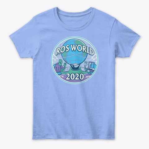 Image Not Opening Light Blue T-Shirt Front