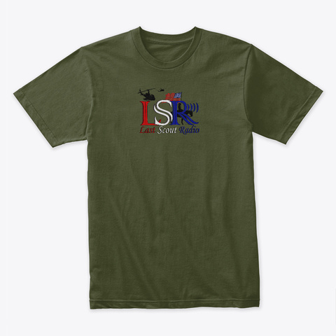 Last Scout Radio (Official) Military Green T-Shirt Front