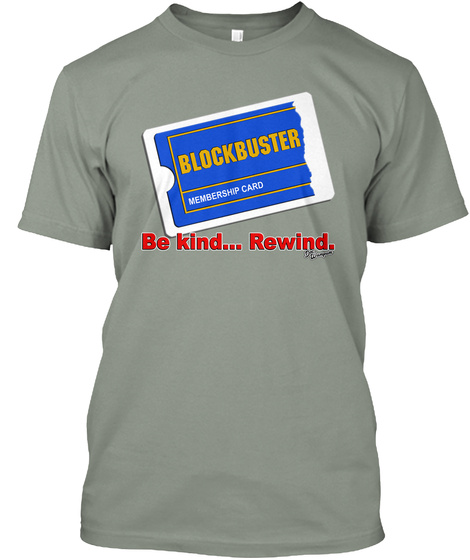 Blockbuster Video Grey T-Shirt Front