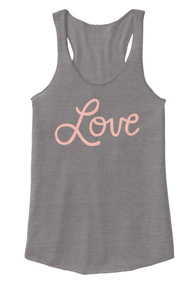 Love Eco Grey Women's Tank Top Front