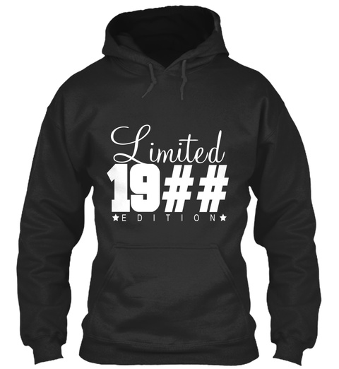 Limited 19## Edition Jet Black T-Shirt Front