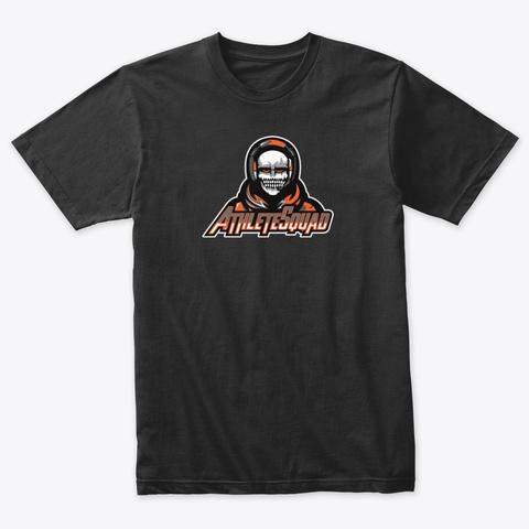 Orange Bold Logo Vintage Black T-Shirt Front