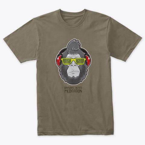 Gorilla Meditator  (Mascot Team) Venetian Gray T-Shirt Front