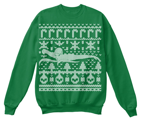 Merry Swim Mas Sweater Kelly Green  T-Shirt Front