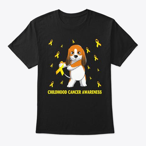 Cavalier King Charles Spaniel Childhood  Black T-Shirt Front