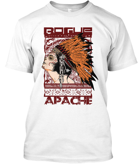 Bougue Apache White T-Shirt Front