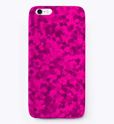Pink Glittering I Phone Case White T-Shirt Front