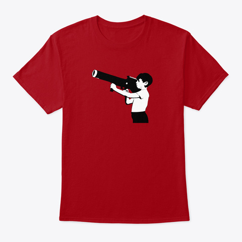 Banksy Child Soldier Deep Red T-Shirt Front