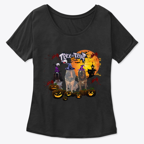 Bloodhound Halloween Trick Or Treat Black T-Shirt Front