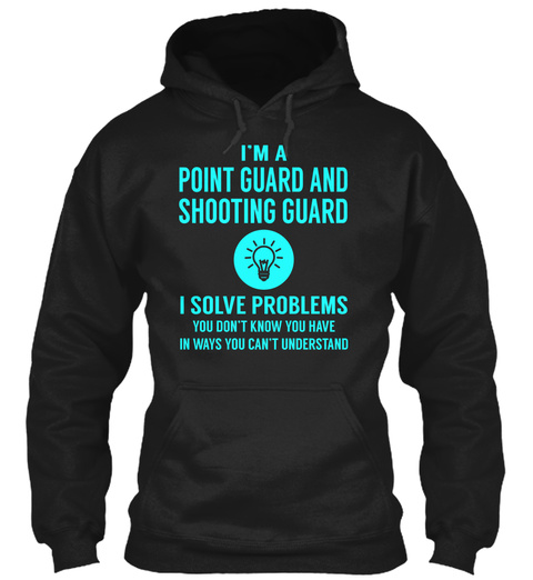 Point Guard And Shooting Guard Black T-Shirt Front
