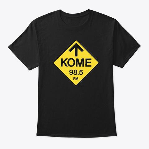 Kome Classic T Black T-Shirt Front