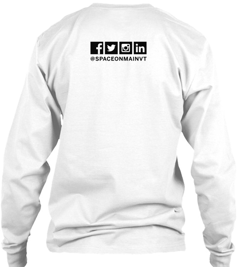 @Spaceonmainvt White Long Sleeve T-Shirt Back