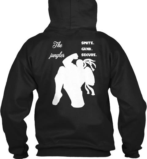 The Smite Gank Jungler Secure Black T-Shirt Back