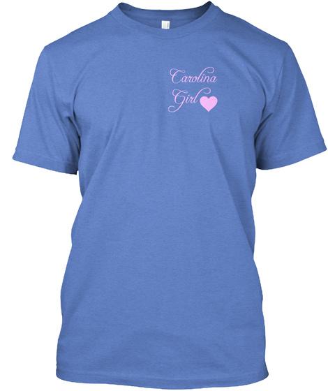 Carolina Girl Heathered Royal  T-Shirt Front