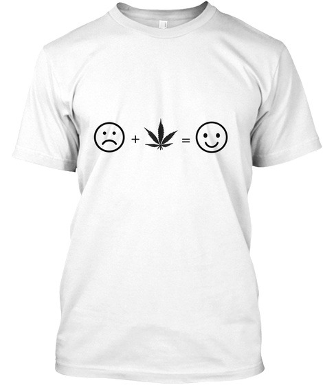 + = White T-Shirt Front