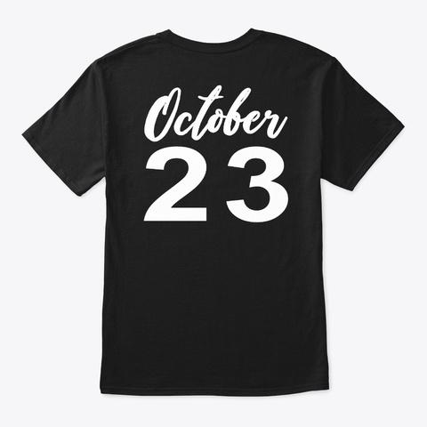 October 23   Scorpio Black T-Shirt Back