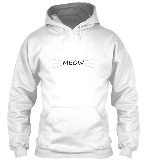 Minimalist Meow Shirt White T-Shirt Front