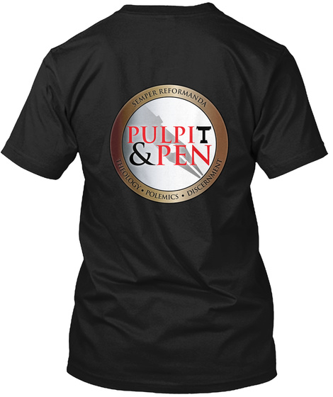 Pulpit & Pen Black T-Shirt Back