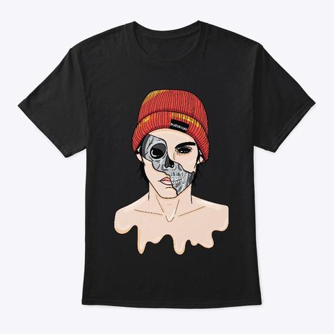Skeletós Black T-Shirt Front