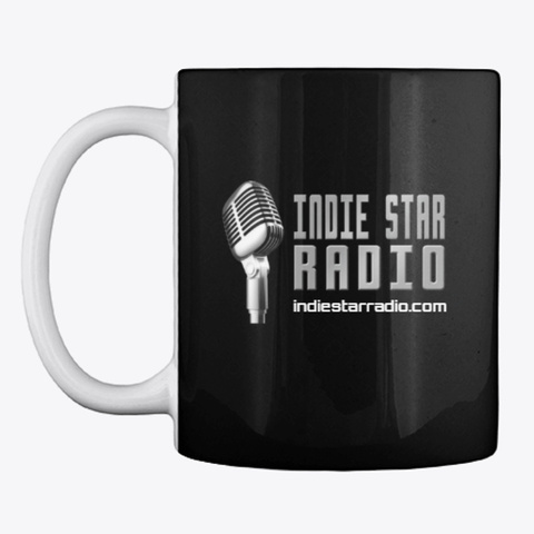 Official Indie Star Radio Coffee Mug Black T-Shirt Front