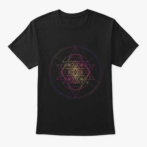 Sacred Geometry Tessepyramid Black T-Shirt Front