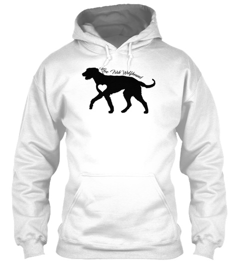 The Irish Wolfhound White T-Shirt Front