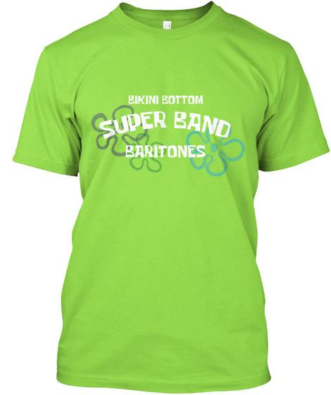 Bikini Bottom Baritones Lime T-Shirt Front