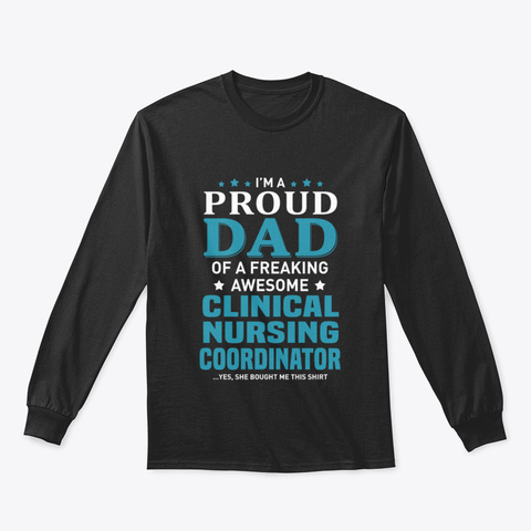Clinical Nursing Coordinator Black T-Shirt Front