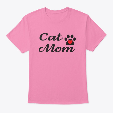 Cat Mom Pink T-Shirt Front