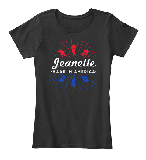 Jeanette Made In America Black T-Shirt Front