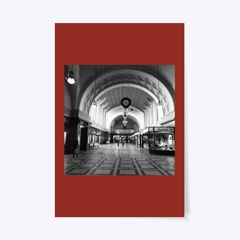 Art Nouveau Trainstation Dark Red T-Shirt Front
