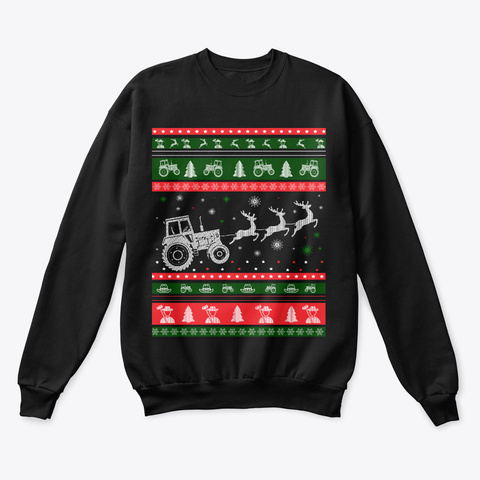 Farmer Holiday Christmas Sweater 2020 Black T-Shirt Front