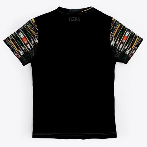 Abstract Art Print Design Pattern Black T-Shirt Back