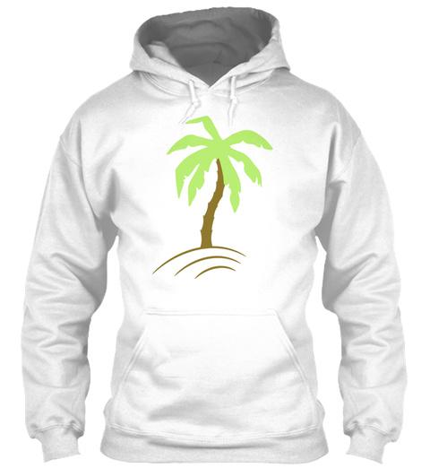 Palm Tree Beach Holiday Sun 2c White T-Shirt Front