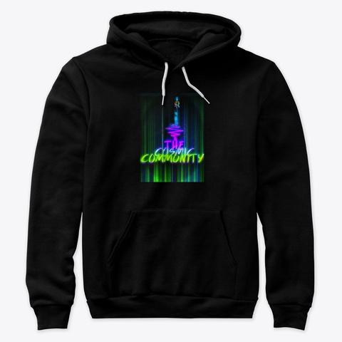 The Cosmic Community  Black T-Shirt Front