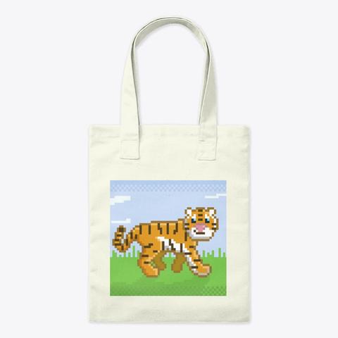 Pixel Tiger Natural T-Shirt Front