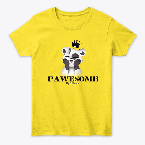 Panda Queen: Shirt & Hoodie Daisy T-Shirt Front