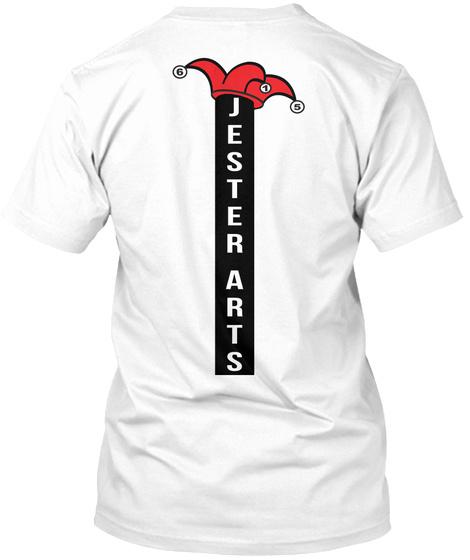Jester Arts White T-Shirt Back