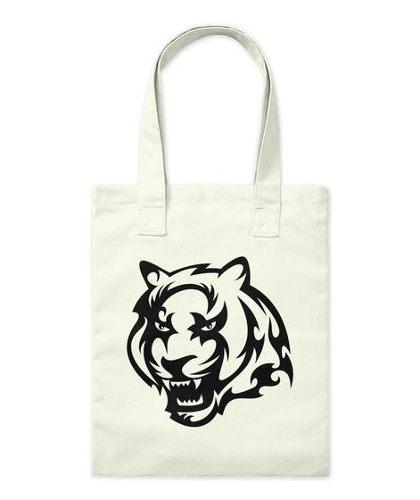 Tiger Bag  Natural T-Shirt Front