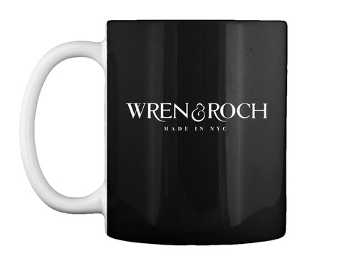 Wren&Roch Made In Nyc Black Mug Front