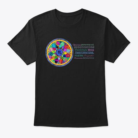 Scorpio Astrology Mandala Shirt Black T-Shirt Front