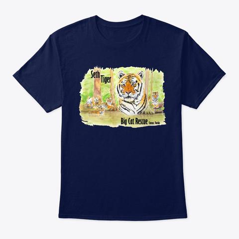 Seth Tiger Lake Navy T-Shirt Front