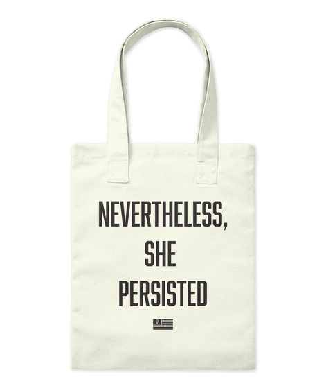 Nevertheless,She Persisted Natural Tote Bag Front