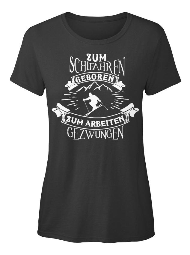 Limitierte-schifahren-Stylisches-T-Shirt-Damen