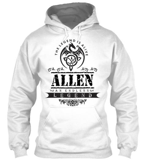 The Legend Is Alive Allen An Endless Legend White T-Shirt Front