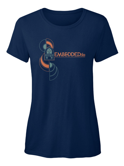 Embedded Fm Navy Women's T-Shirt Front