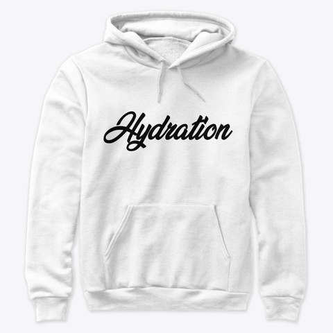 Hydration Black White T-Shirt Front