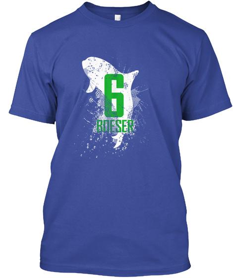 6 Boeser Deep Royal Camiseta Front