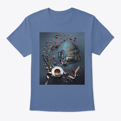 Italy #2 Denim Blue T-Shirt Front