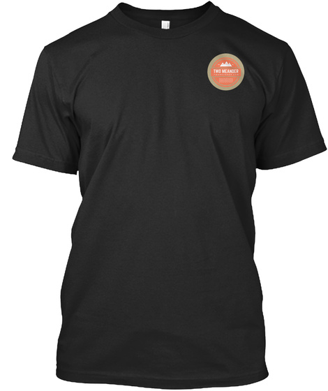 Two Meander T Shirt Black T-Shirt Front